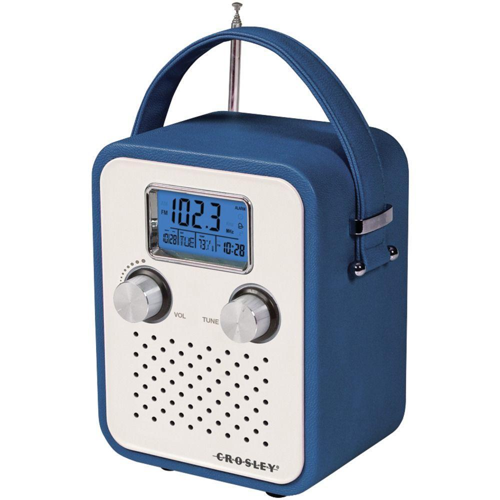 Crosley Songbird Alarm Clock Radio - Blue