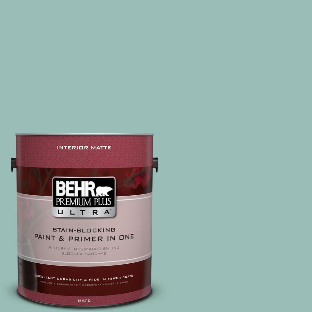 BEHR Premium Plus Ultra 1 gal. #PPU12-7 Spring Stream Flat/Matte Interior Paint