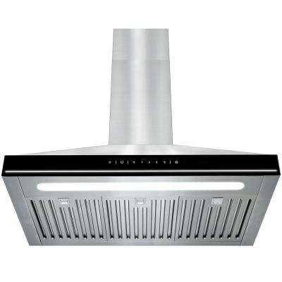 30 in. Convertible Kitchen Wall Mount Range Hood in Stainless Steel with LEDs and Touch Controls