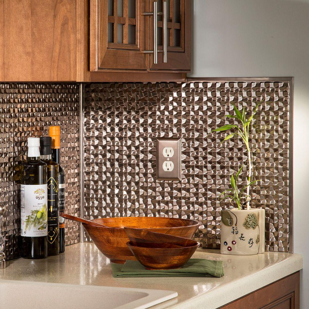 Backsplash glass tile home depot