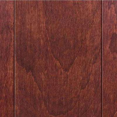 Take Home Sample - Hand Scraped Maple Saddle Solid Hardwood Flooring - 5 in. x 7 in.