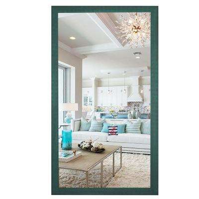 78 in. x 39 in. Country Cottage Aqua Framed Double Vanity Mirror