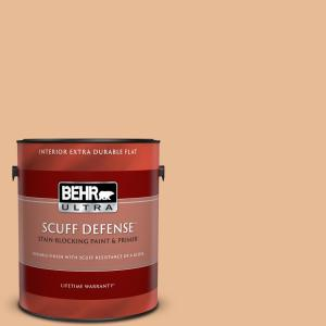 Behr Ultra 1 Gal 280c 3 Fresh Praline Extra Durable Flat Interior Paint Primer 172401 The Home Depot