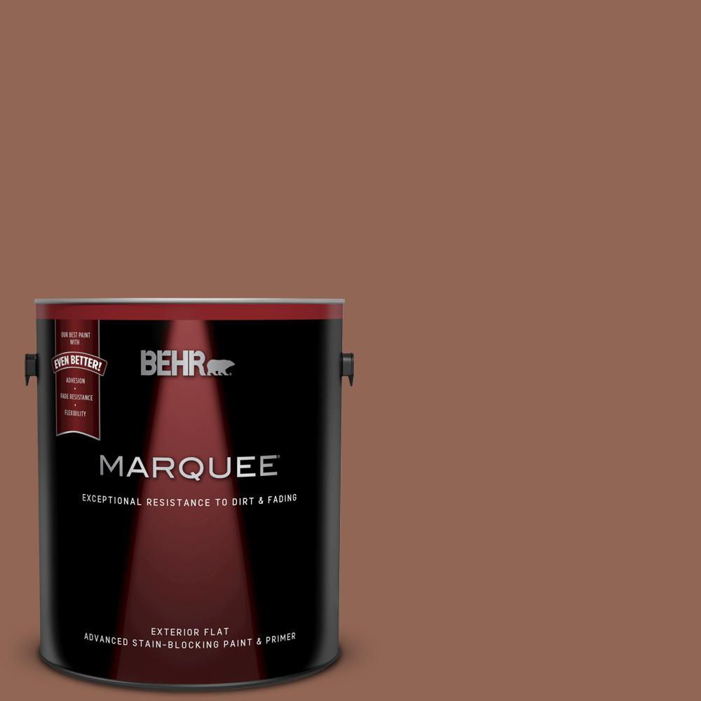 Behr Marquee 1 Gal S190 6 Rio Rust Flat Exterior Paint And Primer In One