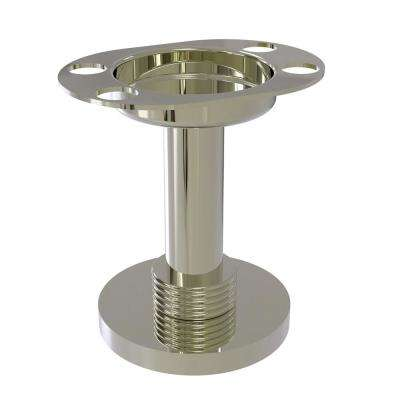 Vanity Top Tumbler and Toothbrush Holder with Groovy Accents in Polished Nickel