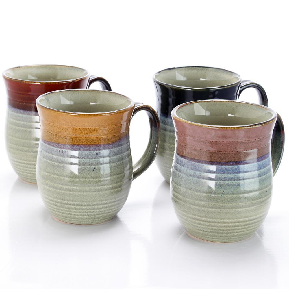 Middleton 17 oz. Assorted Colors Mugs (Set of 4)