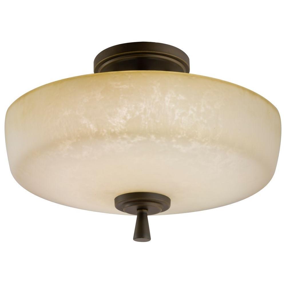 Ferros 1-Light Antique Bronze Ceiling Downlight