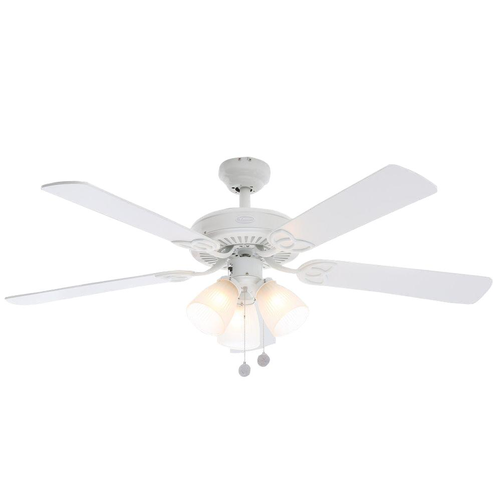 Westinghouse vintage 52 in white ceiling fan 7862765 the home depot westinghouse vintage 52 in white ceiling fan aloadofball Images