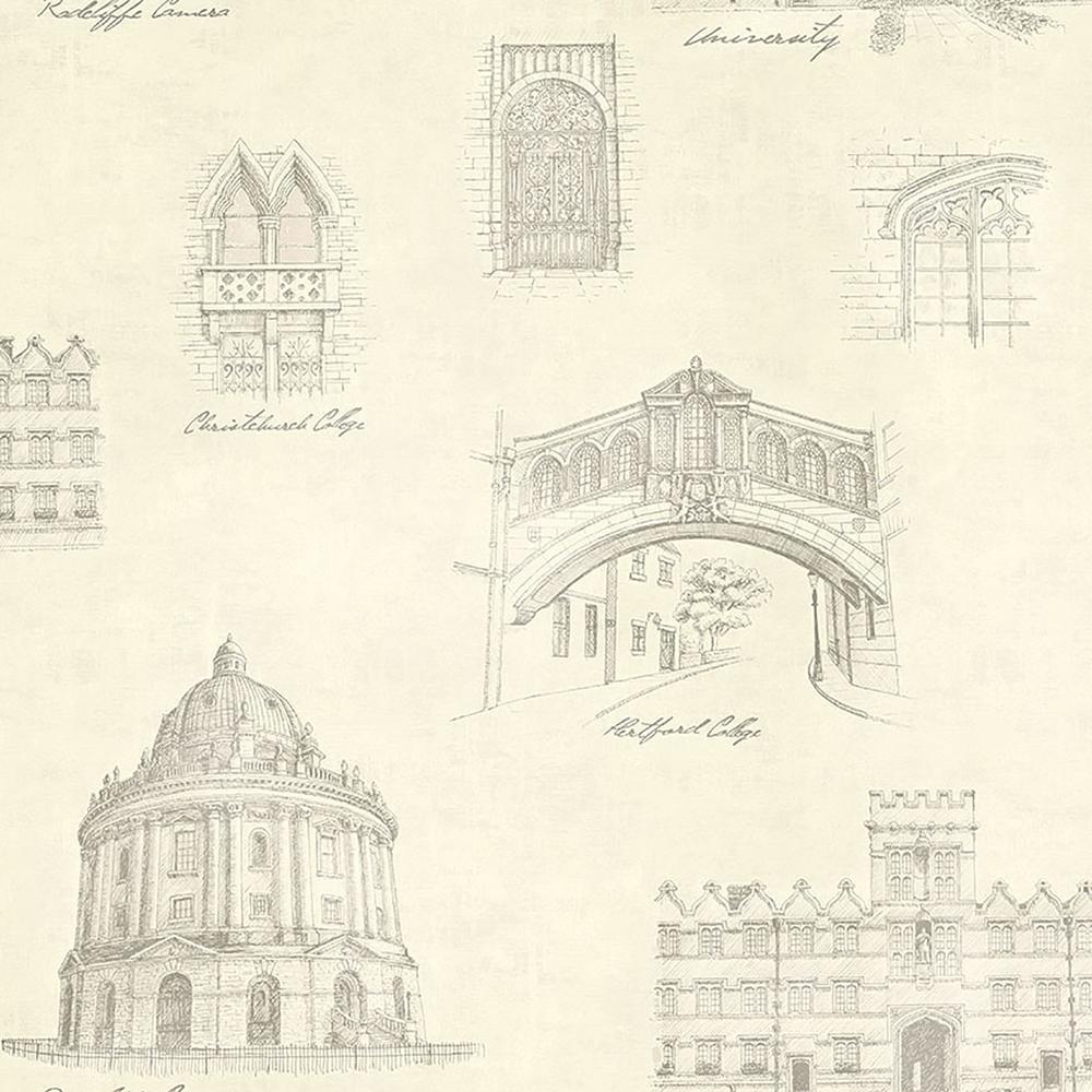 Estate Cream Illustration Wallpaper Sample