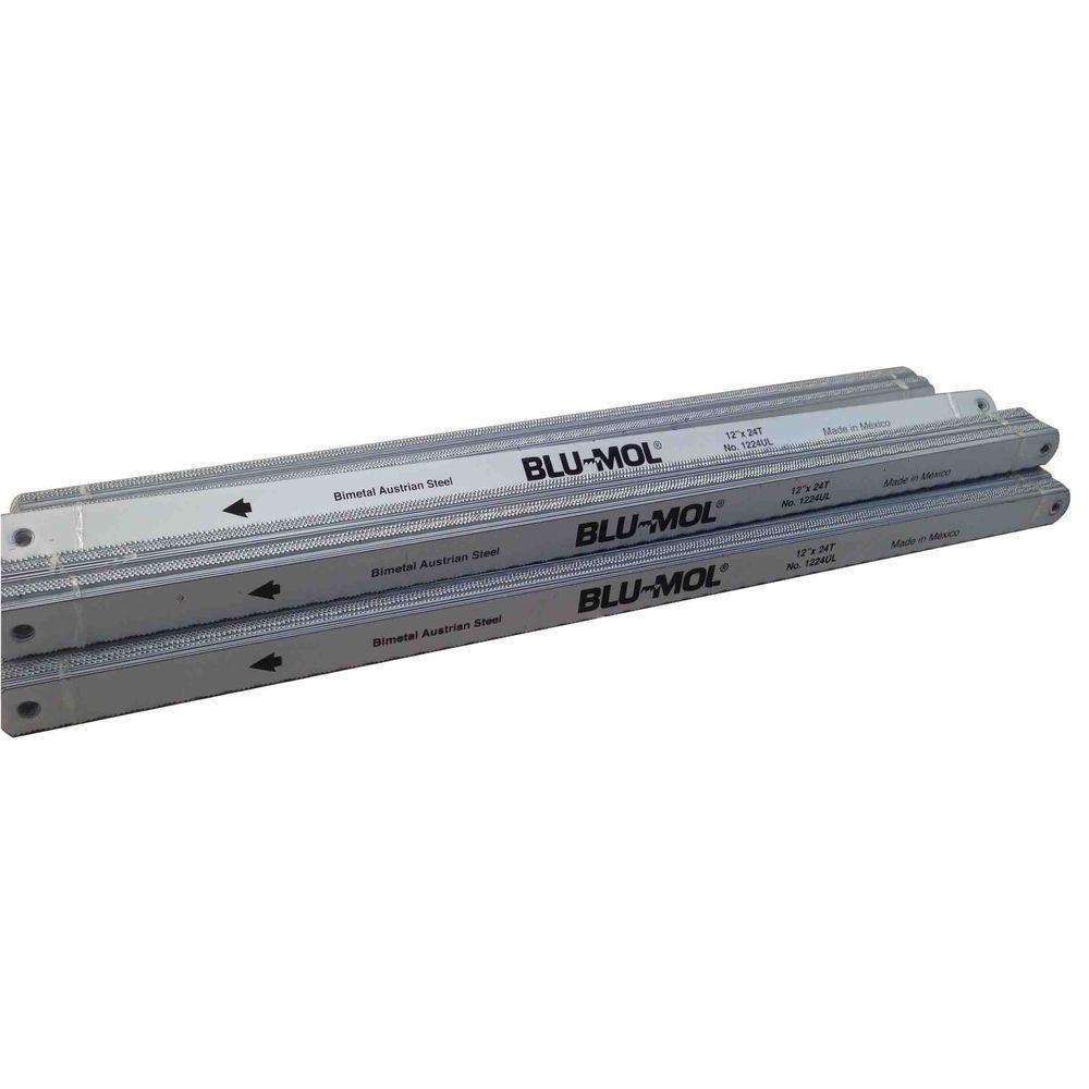 12 in. x 1/2 in. x 0.025 in. 24 Teeth per in. Bi-Metal Hack Saw Blade (100-Pack)