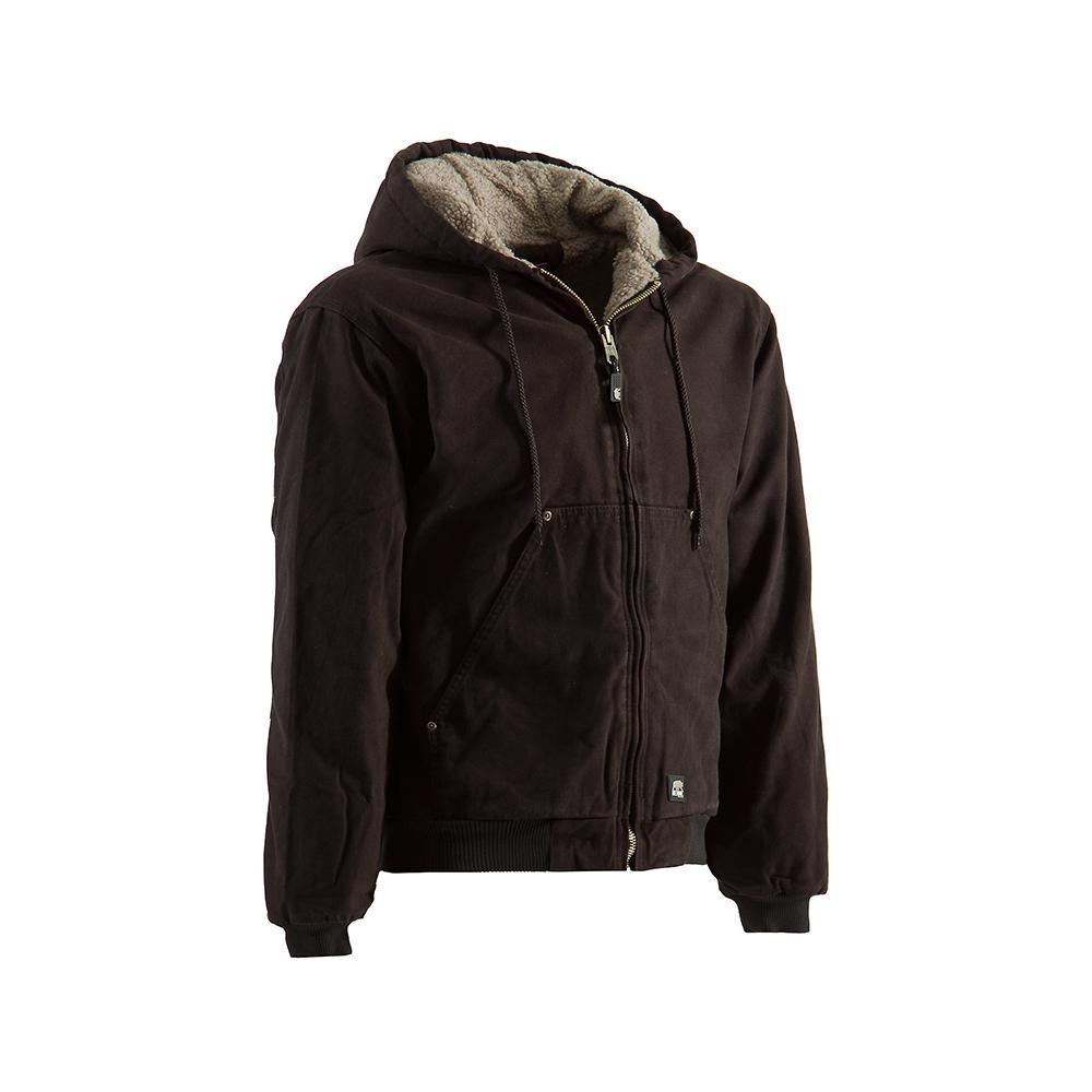 d25379f92 Men's Medium Regular Dark Brown Cotton High Country Sherpa Lined Hooded