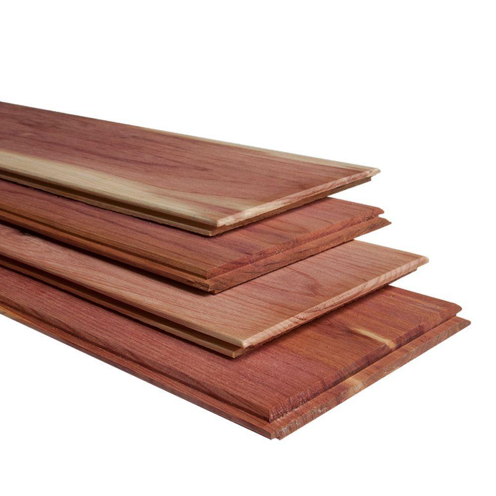 Pattern Stock 1 in  x 8 in  x 8 ft  Cedar STK Shiplap Siding (6-Pack