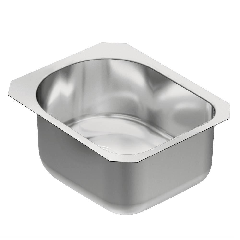1800 Series Undermount Stainless Steel 15 in. Single Bowl Kitchen Sink