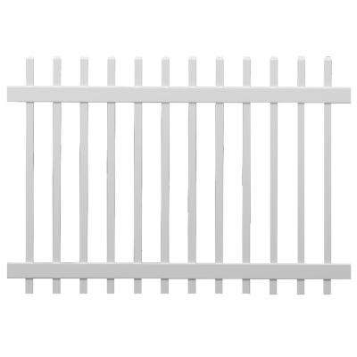 4 ft. x 6 ft. White Vinyl 1.5 in. Unassembled Picket Fence Panel