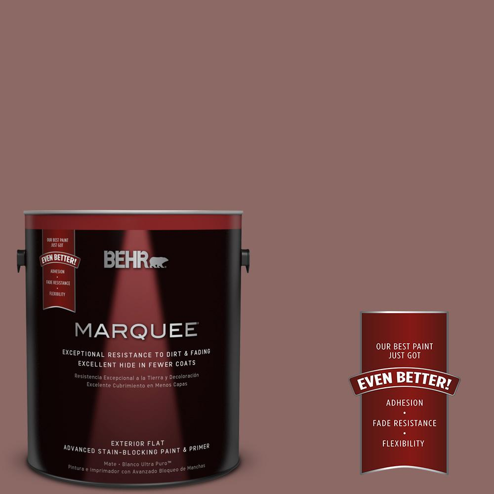 1-gal. #700B-5 Red Stone Flat Exterior Paint