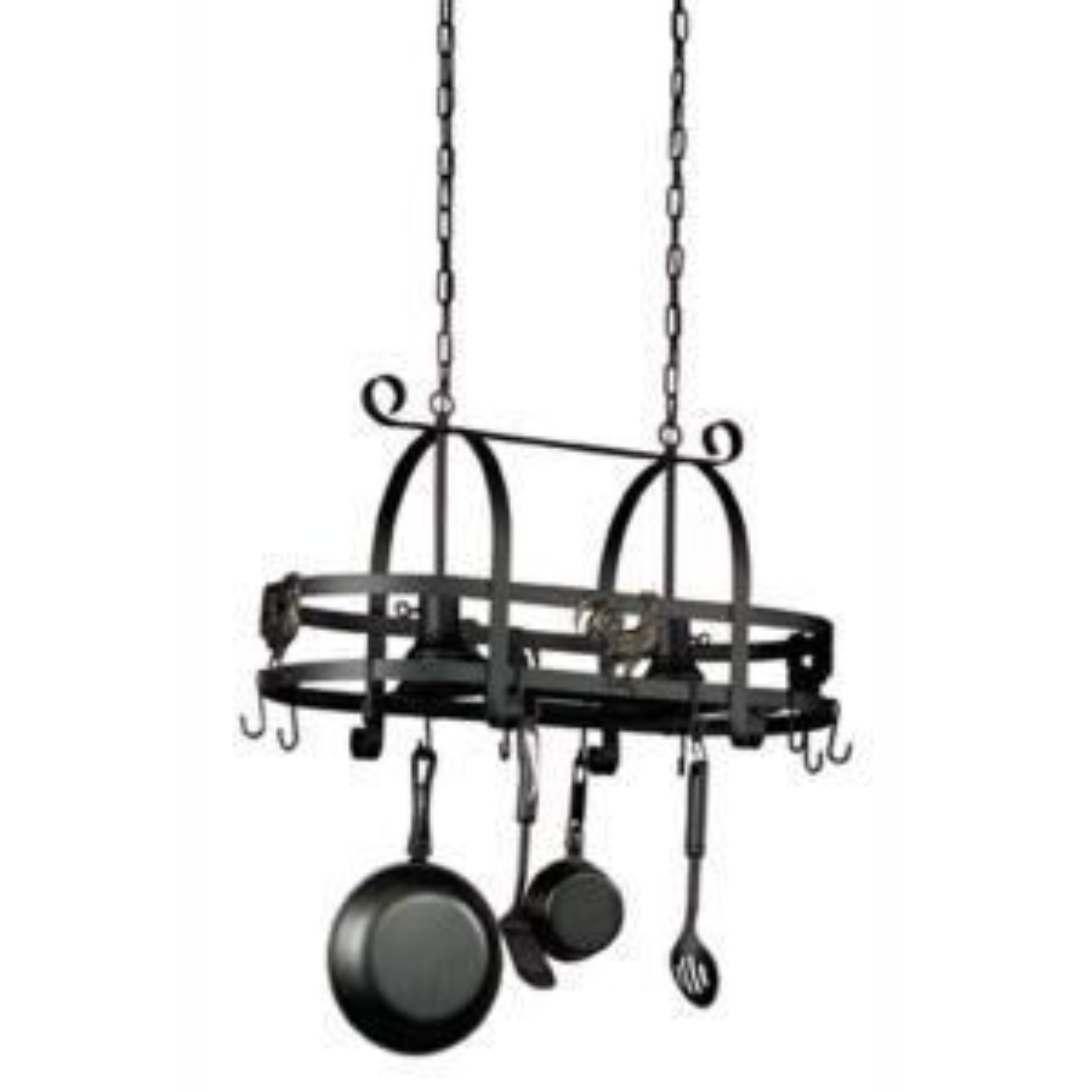 Filament Design 16.5 inch 2-Light Ebony Black Pot Rack by Filament Design