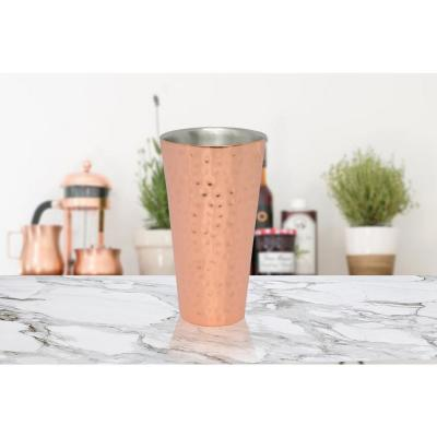 20 oz. Double Wall Hammered Copper Tumbler (4-Pack)