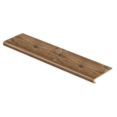 Heirloom Pine 47 in. L x 12-1/8 in. D x 1-11/16 in. H Vinyl Overlay to Cover Stairs 1 in. T