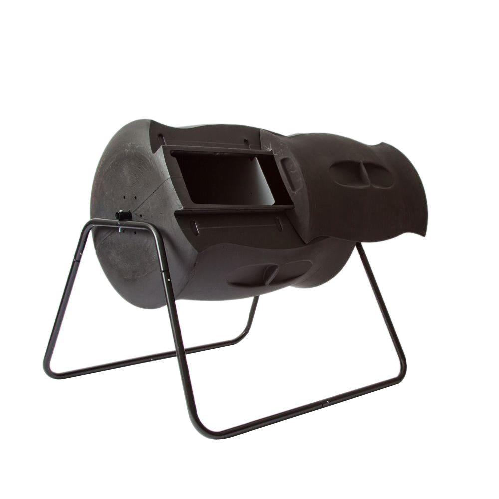 56 gal. Tumbling Composter in Black