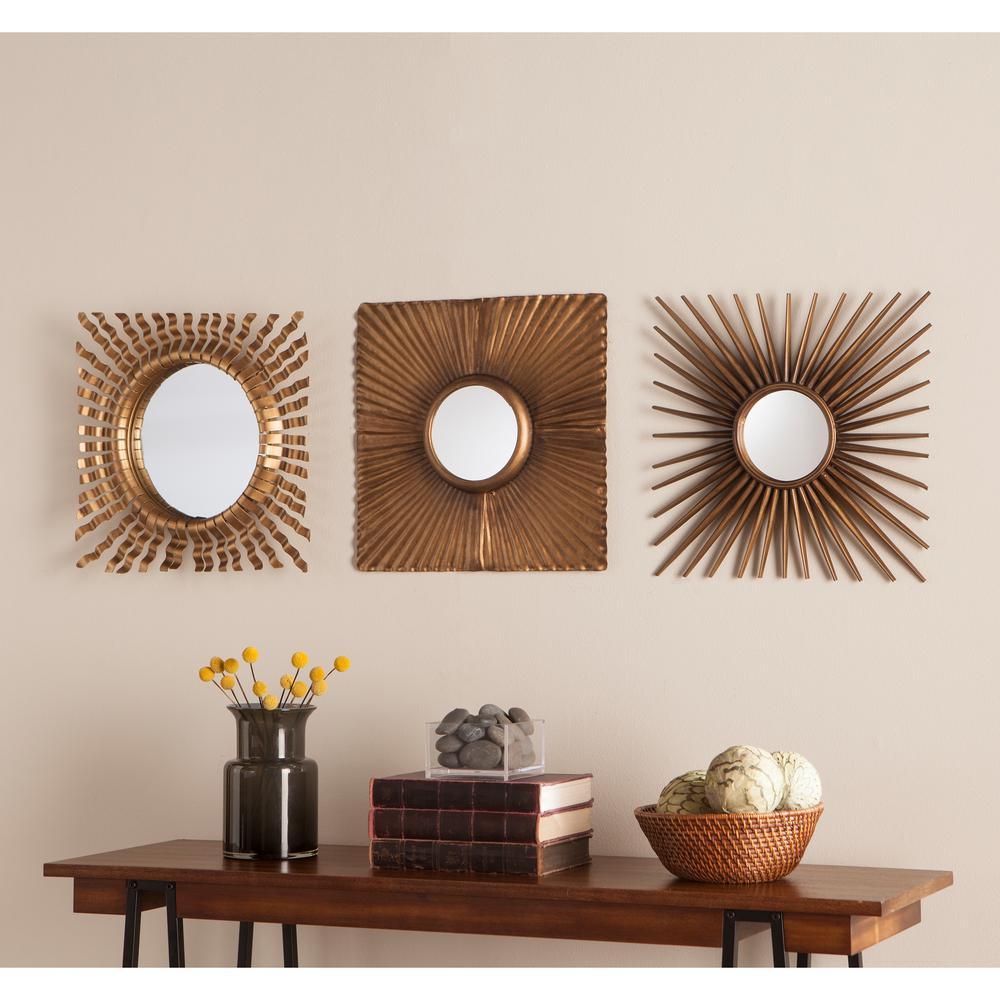 Nilam 3 Piece Decorative Mirror Set