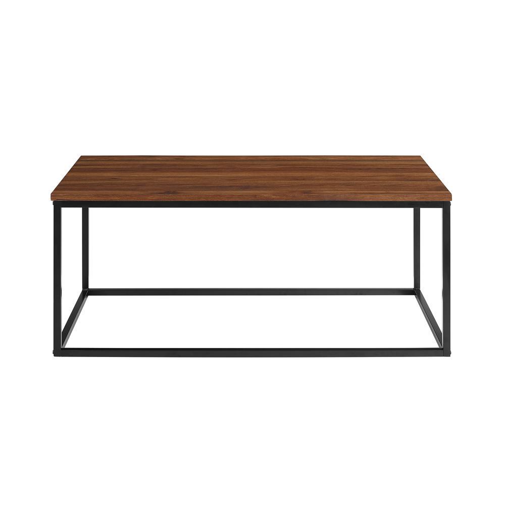 Walker Edison Furniture Company 42 In Dark Walnut Mixed Material Coffee Table