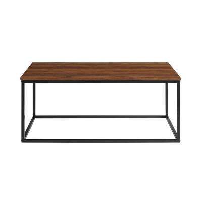 42 in. Dark Walnut Mixed Material Coffee Table