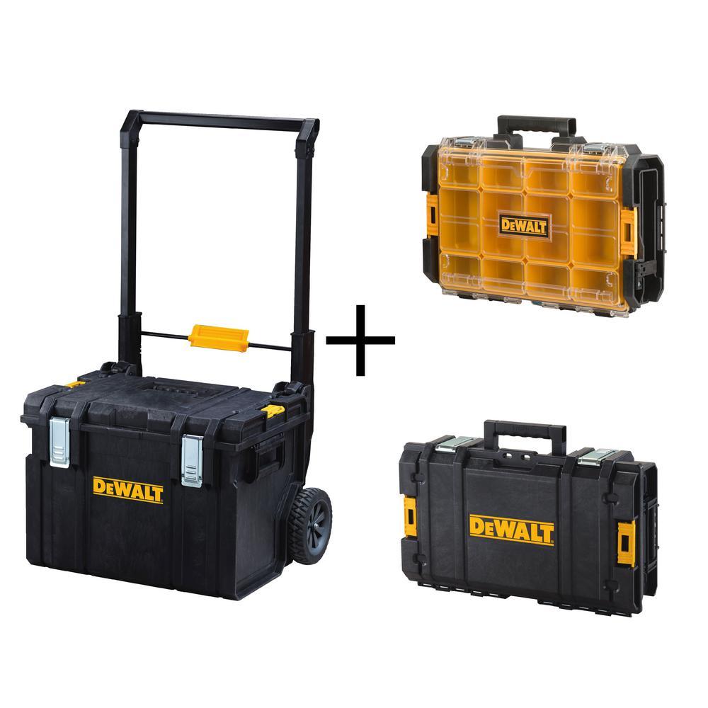 Dewalt 22 inch Portable Rolling Power Tool Box Storage Organizer Waterproof Case