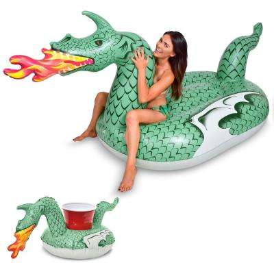 Giant Inflatable Fire Dragon Includes Bonus Fire Dragon Drink Float