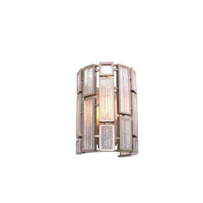 Harlowe 1-Light New Bronze Sconce with Textured Ice Glass