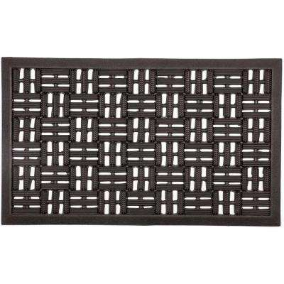 Scraper Squares 18 in. x 30 in. Recycled Rubber Door Mat