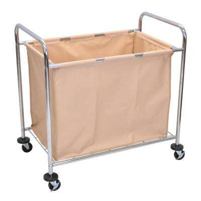 HL Steel Frame and Canvas Bag Laundry Cart with Wheels