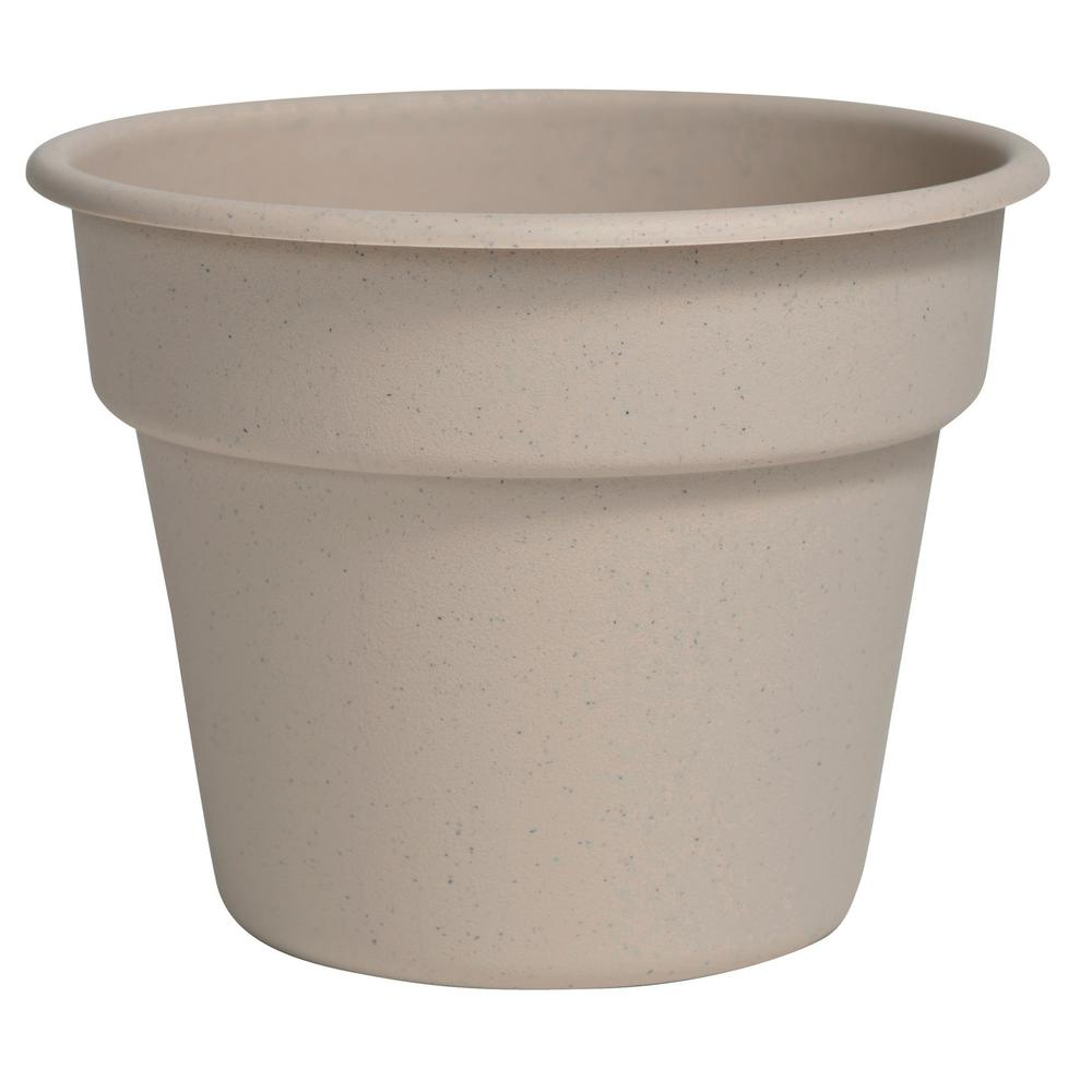 Dura Cotta 16 in. Taupe Plastic Planter