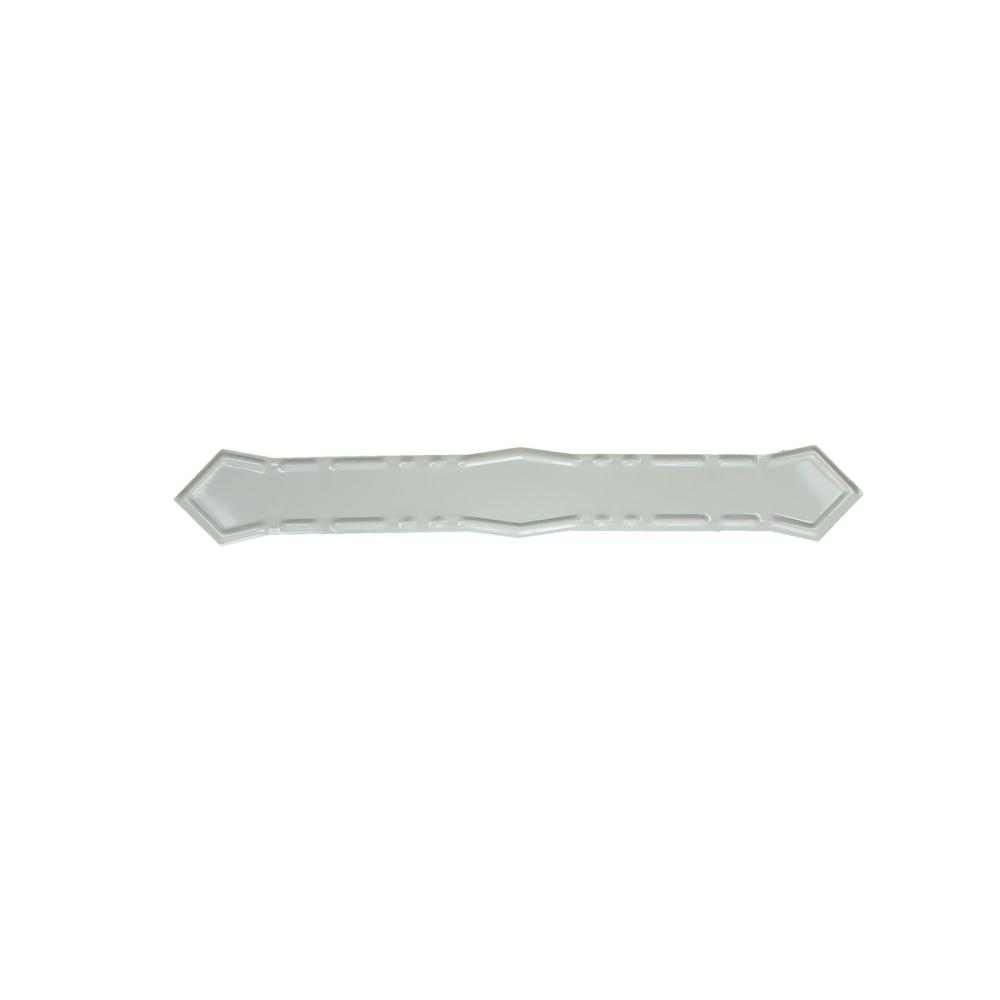 Spectra Metals High Gloss White Aluminum Diamond Downspout Band