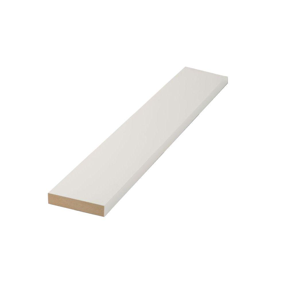 Finished Elegance 1 in. x 4 in. x 8 ft. MDF Moulding Board
