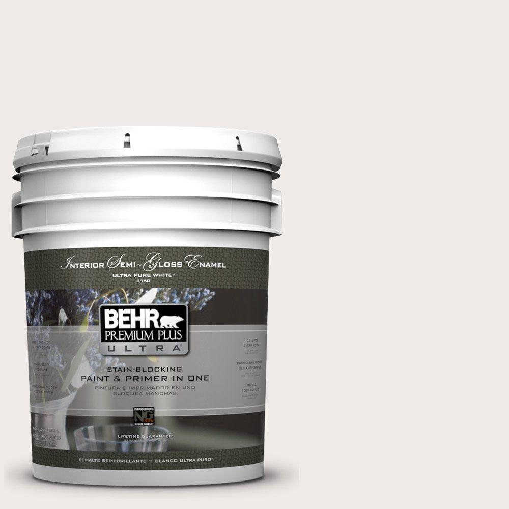 Behr Premium Plus Ultra 5 Gal 780a 1 Sweet Vanilla Semi Gloss Enamel Interior Paint And Primer