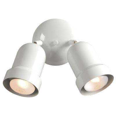 Negron 2-Light White Track Head Spotlight with Directional Heads