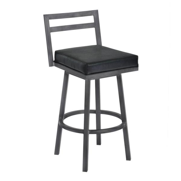 Armen Living Moniq 30 in. Black Bar Stool LCMOBAMFBL30