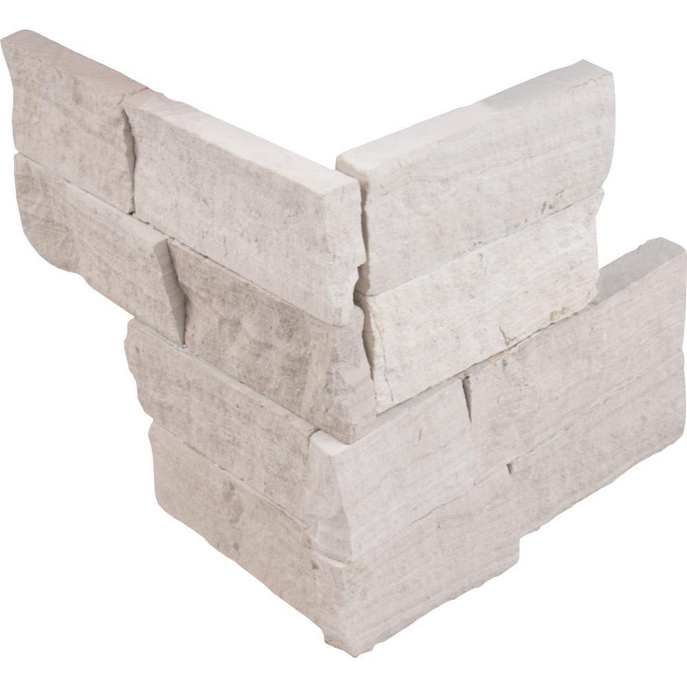 MSI Classico Oak Ledger Corner 6 in. x 6 in. x 6 in. Natural Marble Wall Tile (2 sq. ft. / case)