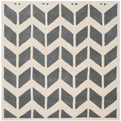 Chatham Dark Gray Ivory 5 Ft X Square Area Rug