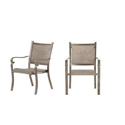 Home Decorators Collection Wilshire Estates  Aluminum Sunbrella  Sling Outdoor Dining Chair  ( 2-Pack)