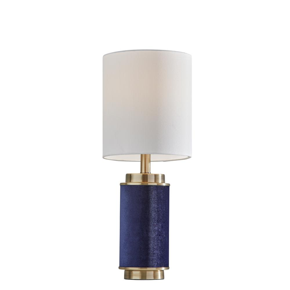 Adesso Marsha 22 In Navy And Brass Table Lamp 1501 07 The Home Depot