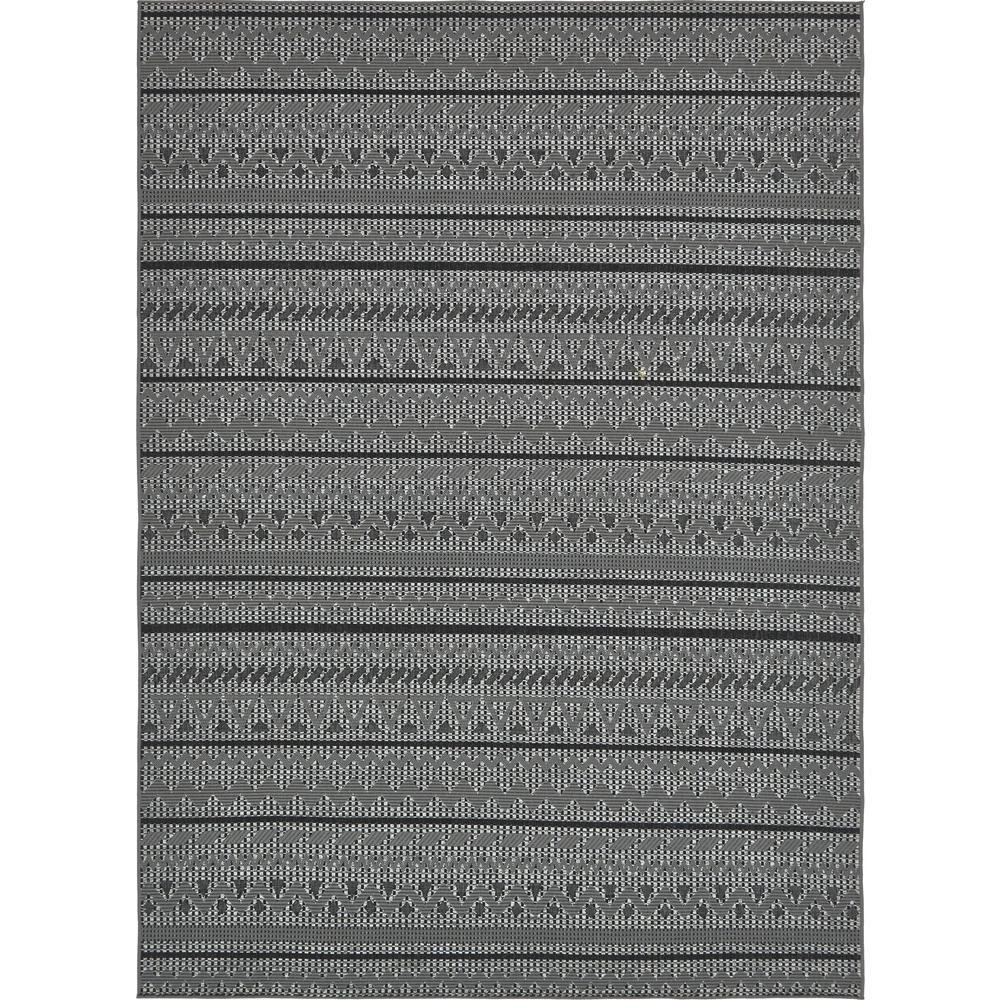 "Outdoor Modern Gray 8' x 11'4"" Rug"
