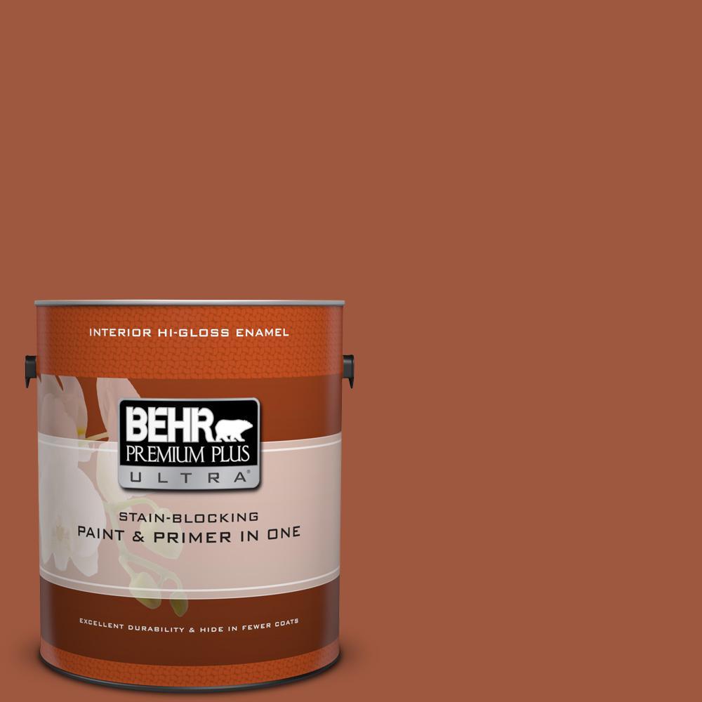 1 gal. #HDC-AC-01 Nouveau Copper Hi-Gloss Enamel Interior Paint