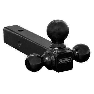 Tri-Ball Hitch-Solid Shank with Black Towing Balls