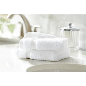 Egyptian Cotton Wash Cloth in White (Set of 2)