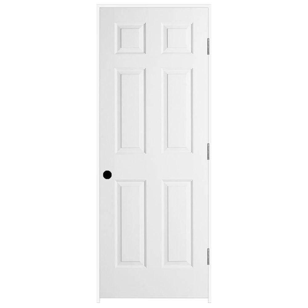 JELD-WEN 30 in. x 80 in. Colonist Primed Left-Hand Smooth Solid Core Molded Composite MDF Single Prehung Interior Door