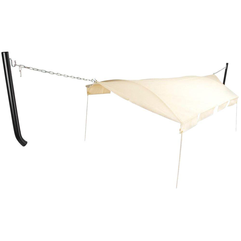 Hammock Natural Canopy with Black Textured Poles
