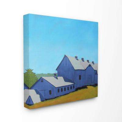 """30 in. x 30 in. """"Colorful Luminous Painted Farm House"""" by Carol Young Printed Canvas Wall Art"""