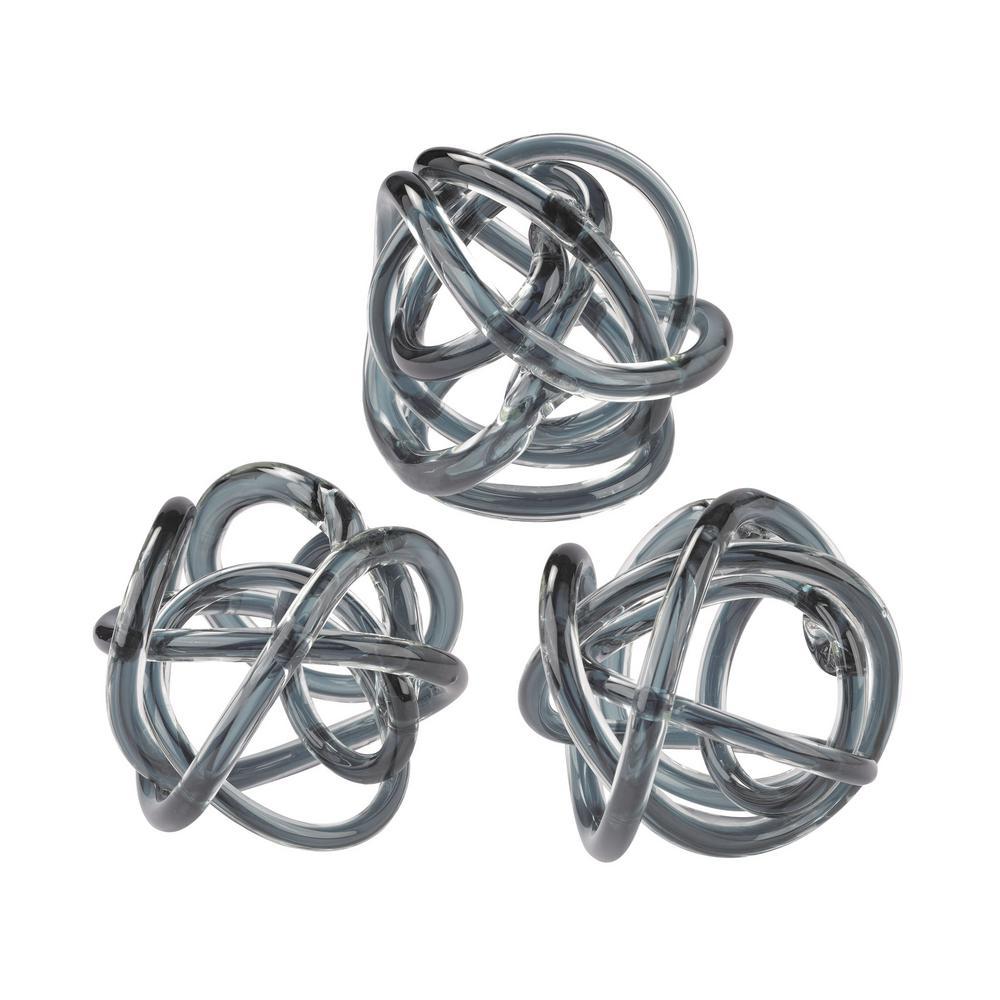 Grey Glass Knot