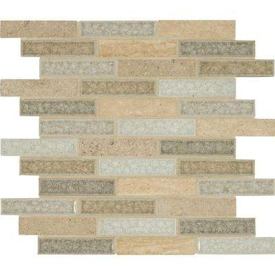 Crystal Vista 12 in. x 12 in. x 8mm Glass and Stone Mesh-Mounted Mosaic Tile (10 sq. ft. / case)